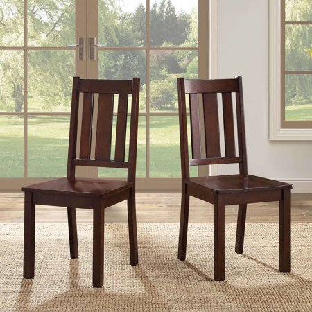 Better Homes and Gardens Bankston Dining Chair, Set of 2, Mocha Antique Dining Tables Chairs