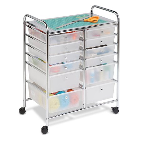 Honey Can Do Doublewide 12-Drawer Rolling Cart, - Organization Chart