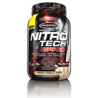 MuscleTech Nitro Tech Ripped Protein and Weight Loss Dietary Meal Replacement Supplement Powder, Cookies and Cream 2lbs