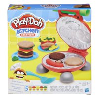 Play-Doh Kitchen Creations Burger Barbecue Food Set with 5 Cans of Dough
