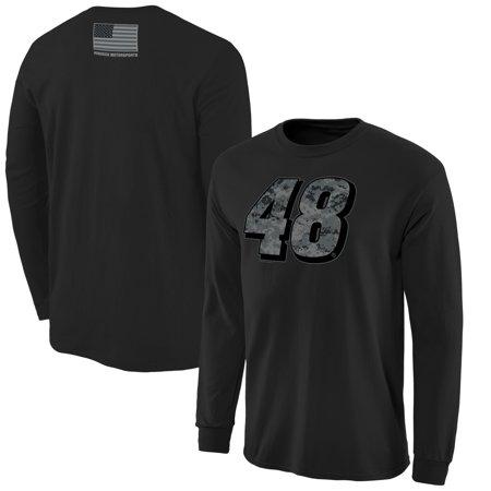 Jimmie Johnson Camo (Jimmie Johnson Digi Camo Battallion Long Sleeve T-Shirt - Black )