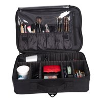 KARMAS PRODUCT Makeup Train Case 3 Layers Portable Cosmetic Organizer Toiletries Storage Bag Backpack