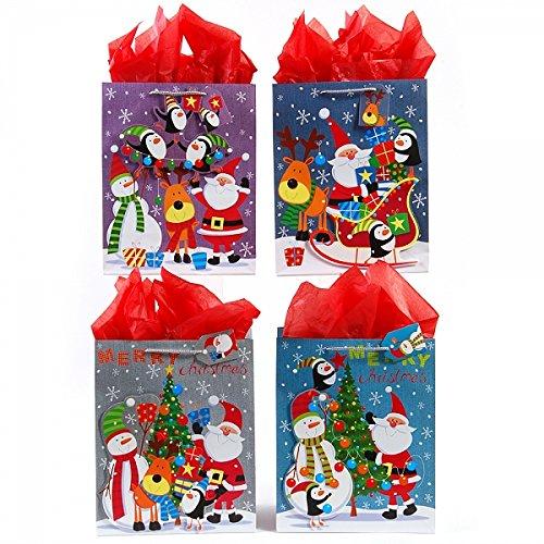 Large  Sleighride Santa u0026 Friends  Christmas Gift Bags ...  sc 1 st  Walmart & Christmas Gift Bags