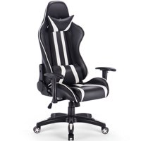 Gymax Home Office High Back Gaming Chair Racing Reclining Chair Swivel
