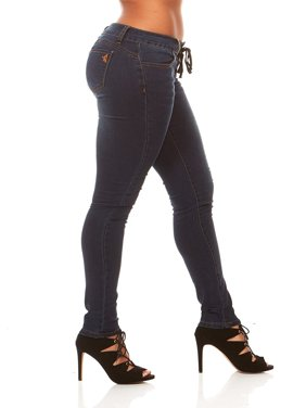 VIP Jeans for women | Pull on Lace Fly Skinny Ultra comfort Slim Fit Stretchy jeans no button or zipper | Junior sizes