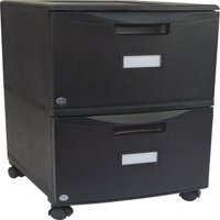 Storex 2-Drawer Mobile File Cabinet With Lock and Casters, Legal/Letter