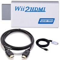 1080p Wii to HDMI Converter Adapter HD Video Audio Output + 6Ft HDMI Cable for Nintendo Wii