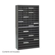 Scranton & Co Black Mail Organizer - 72 Letter Size Compartments