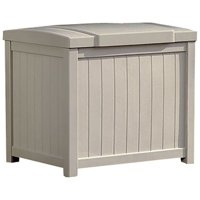Suncast 22 Gallon Storage Deck Box, Light Taupe, SS900