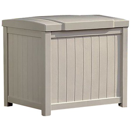 Suncast 22 Gallon Storage Deck Box Light Taupe Ss900 Walmartcom