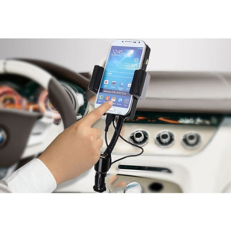 Car Mount, SANOXY Car Cradle Charging Dock Station with Radio FM Transmitter, Micro USB Charger Moto X Play](Fm Radio Stations Playing Halloween Music)