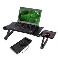 Ktaxon 360Adjustable Folding Laptop Notebook Desk + Cooling Fan Table Stand Bed Tray