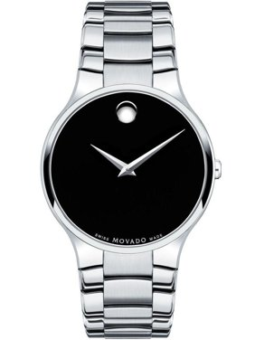 Serio Black Dial Stainless Steel Men's Watch 0606382