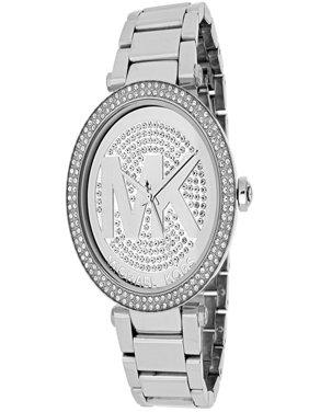 Women's Parker Stainless Steel Logo Glitz Watch, MK5925