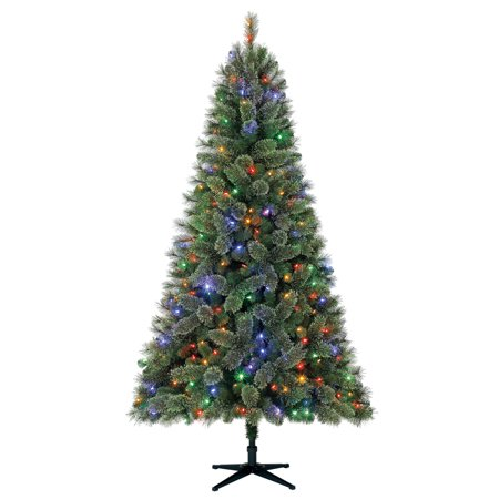 Holiday Time 7.5ft Pre-Lit Liberty Cashmere Pine Quick Set Artificial Christmas  Tree with - Holiday Time 7.5ft Pre-Lit Liberty Cashmere Pine Quick Set