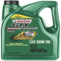 Castrol GTX High Mileage 10W-30 Synthetic Blend Motor Oil, 5 QT