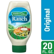 (2 Pack) Hidden Valley Easy Squeeze Original Ranch Salad Dressing & Topping, Gluten Free - 20 oz Bottle