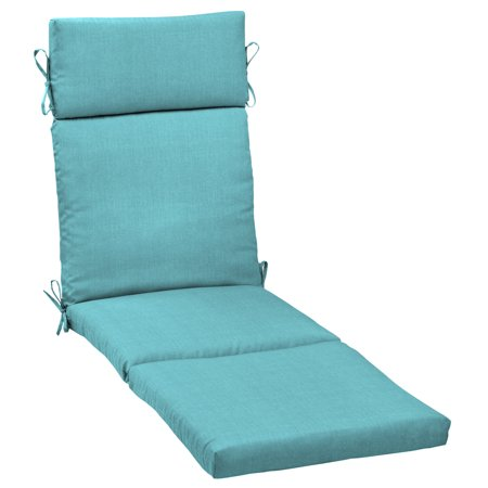 Mainstays Solid Turquoise 72 x 21 in. Outdoor Chaise Lounge Cushion