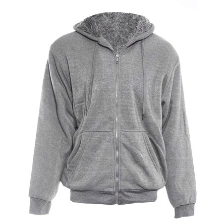Logo Hoody Jacket - Alta Men's Hoodie Zip Up Jacket Sherpa Lined Fleece Sweater