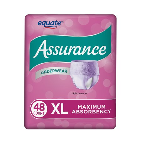 Assurance Incontinence Underwear, Women's, Size XL, 48 Ct