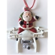 d66360c5d1348 Santa Claus Flying Drone Christmas Tree Ornament Holiday Gift Unique Present