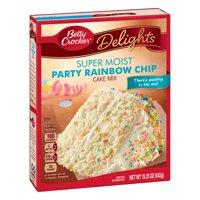 (2 pack) Betty Crocker Super Moist Rainbow Chip Cake Mix, 15.25 oz