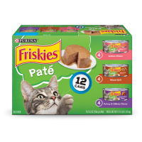 Friskies Pate Wet Cat Food Variety Pack; Salmon, Turkey & Grilled - (12) 5.5 oz. Cans