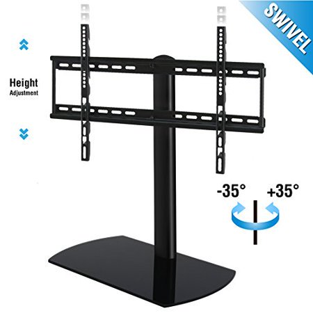 Swivel Tab letop TV Stand with Mount for 32 to 65 inch Samsung TCL Vizio LED LCD Flat screen TV (Aluminum Stand Bases)