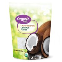 (3 Pack) Great Value Organic Unsweetened Coconut Flakes, 7 oz