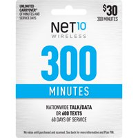 Net10 $30 300 Minutes Prepaid 60 days Plan (Email Delivery)