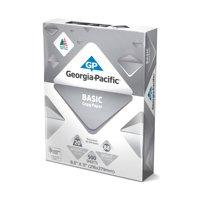 "Georgia-Pacific Basic Copy Paper, 8.5"" x 11"", 20 lb, 88 Brightness, 500 Sheets"