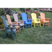 A & L Furniture Recycled Plastic High Seat Adirondack Chair