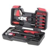 Hyper Tough 39-Piece Household Tool Set, Black & Red