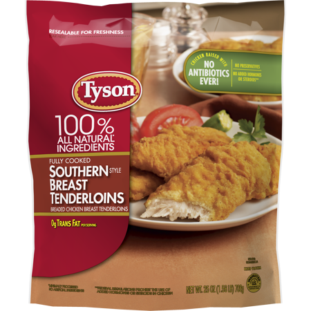Tyson® Fully Cooked Southern Style Frozen Chicken Tenders, 25 oz.