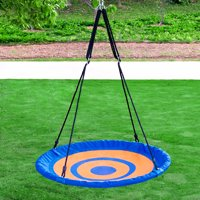"""Clevr 40"""" Outdoor Kids Round Rope Tire Tree Web Net Swing Nest"""