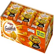 (2 Pack) Pepperidge Farm Goldfish Flavor Blasted Xtra Cheddar Crackers, 10.8 oz. Multi-pack Tray, 12-count 0.9 oz. Single-Serve Snack Packs