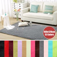 "63x47.2"" Inch Anti-Skid Shaggy Fluffy Area Rug Bedroom Carpet Floor Mat For Home Decor 160x120cm"