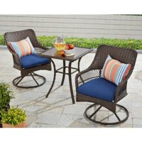 Better Homes and Gardens Colebrook 3 Piece Outdoor Bistro Set, Seats 2