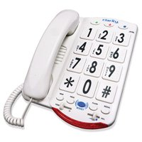 Clarity JV35 Big Button Amplified Corded Phone features Clarity power