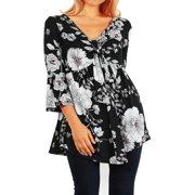 e961471242a47d Funfash Women Plus Size Empire Waist A Line Black White Top Shirt Made in  USA