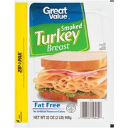 Great Value Fat-Free Smoked Turkey Breast, 32 Oz.