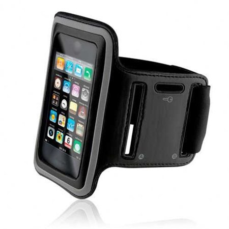 Armband Sports Gym Workout Cover Case Arm Strap Jogging Band Pouch Neoprene Black JZW for BLU R1 Plus - HTC Desire 816 - Huawei Mate 9 - LG G Flex 2 Stylo Vista 2 G3 G4, Harmony, Optimus G Pro, Plus V