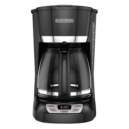 BLACK+DECKER 12-Cup* QuickTouch Programmable Coffeemaker, Black, -