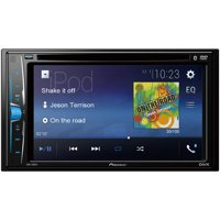 """Pioneer 6.2"""" Double-DIN In-Dash DVD Receiver with WVGA Clear-Resistive Touchscreen & Bluetooth"""