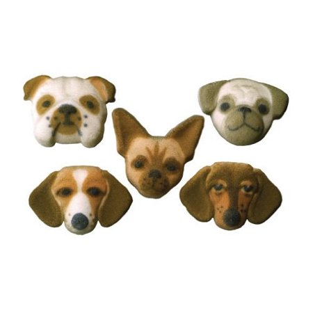 Dog Secret Life Of Pets Puppy Sugar Decorations Toppers Cupcake Cake Cookies Birthday Favors Party 12 Count - Puppy Birthday Decorations
