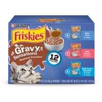 Friskies Gravy Sensations Seafood Favorites Wet Cat Food Variety Pack - (12) 3 oz. Pouches
