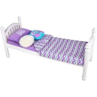 "My Life As 6-Piece Bed Set, White and Purple, for 18"" Dolls"