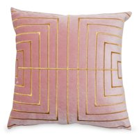 "MoDRN Glam Metallic Stitched Decorative Throw Pillow, 20"" x 20"""