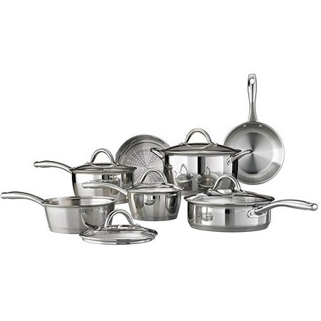 All Clad Stainless Steel Cookware Set - Tramontina Gourmet Stainless Steel Tri-Ply Base Cookware Set, 12 Piece