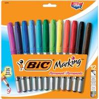 BIC Marking Fine Tip Permanent Marker, Assorted, Dozen